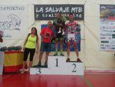 Andrés Plazas, del CC Santa Eulalia, sube al podio como segundo clasificado en la MTB La Salvaje- Vélez Rubio