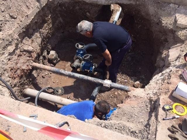 Entra en funcionamiento la nueva conexión que va a solucionar los problemas de abastecimiento a los usuarios que suministra el depósito de Virgen de las Huertas, Foto 3