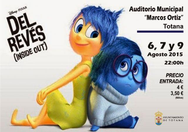 Se retoma la programación del Cine de Verano, en el Auditorio Municipal, con la película de animación Del revés, Foto 1