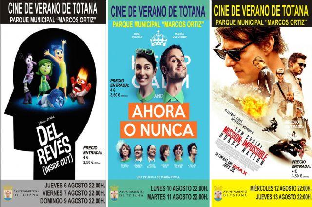 El Cine de Verano continúa este mes de agosto en el Auditorio Municipal, Foto 1