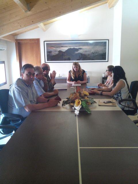 Reunion de CEBAG con la alcadesa de Mazarrón, Foto 1
