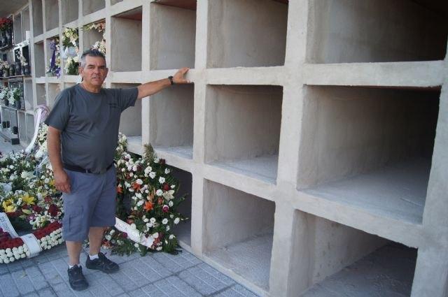 """Finalizan las obras de los 40 nuevos nichos construidos en la nueva zona del Cementerio Municipal """"Nuestra Señora del Carmen"""", Foto 1"""
