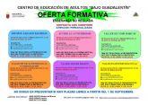 Ya se conoce la oferta formativa del Centro de Educación de Adultos Bajo Guadalentín para el curso 2015/2016