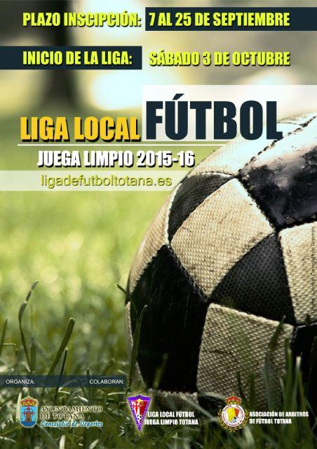 El plazo de inscripción para Liga Local de Fútbol Juega Limpio 2015/2016 se abre el 7 de septiembre, Foto 1