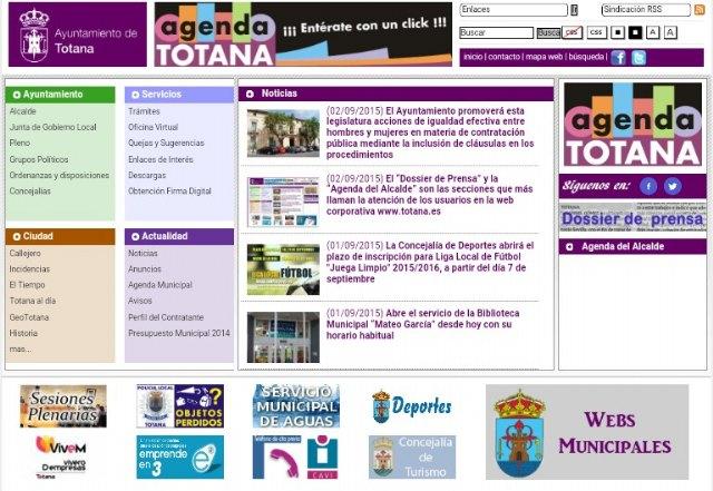 El Dossier de Prensa y la Agenda del Alcalde son las secciones que más llaman la atención de los usuarios en la web del ayuntamiento, Foto 1