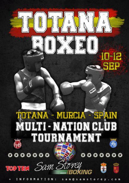 Totana acogerá un Torneo Internacional de Boxeo de clubes del 11 al 13 de septiembre, Foto 1