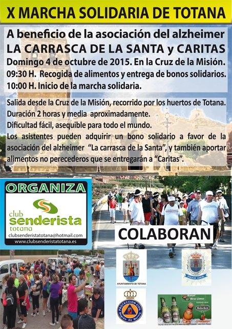 El Club Senderista de Totana organiza la X Marcha Solidaria