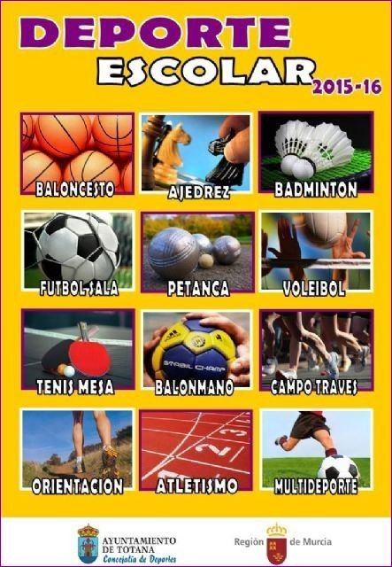 Comienza este próximo fin de semana el programa Deporte Escolar correspondiente al curso escolar 2015/16, Foto 1
