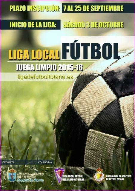 El comienzo de la Liga Local de Fútbol Juega Limpio se aplaza al fin de semana del 10 y 11 de octubre, Foto 1
