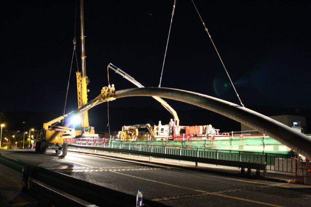 Urbamusa Instala El Arco De La Autovia A 30 Que Conecta El Acceso A