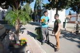 Nuevas plantas y arbolado en los camposantos del municipio