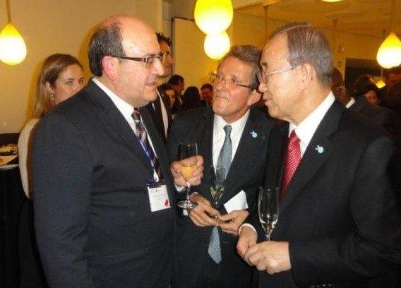 El presidente de COATO con el Secretario General de la O.N.U.