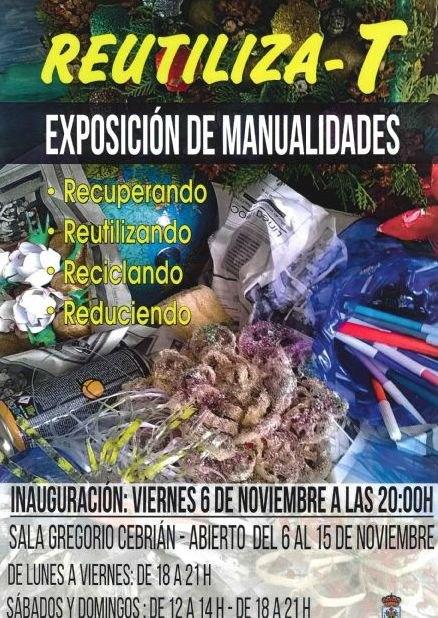 Exposición de manualidades Reutiliza-T sobre elementos reutilizados y reciclados, Foto 1