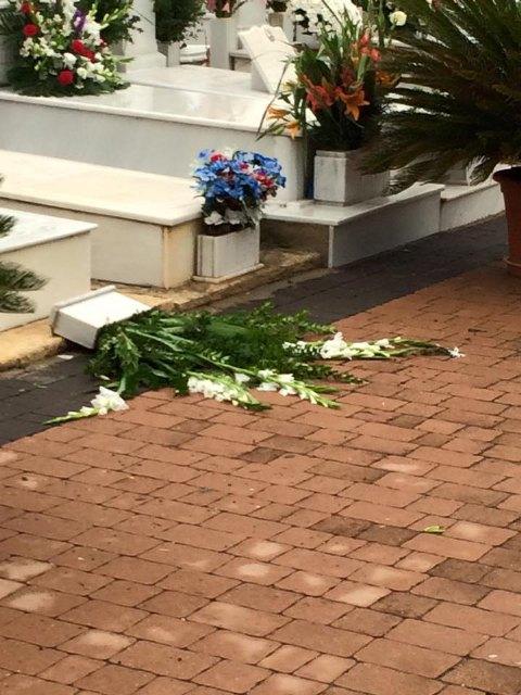 El viento y la lluvia provocan desperfectos en el cementerio, Foto 2