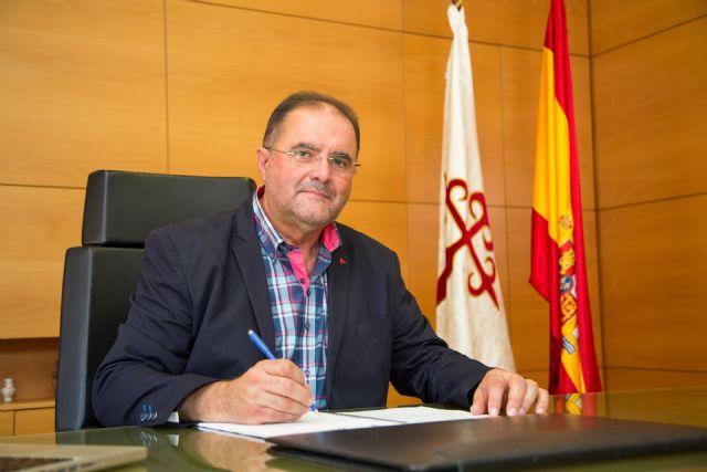 El alcalde califica de insolidarias las declaraciones del candidato a la presidencia de la C. Regantes de Lorca sobre la ejecución de la tubería de la desaladora de Águilas hasta Totana, Foto 1