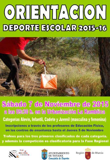 La Concejalía de Deportes organiza el próximo sábado 7 de noviembre la Fase Local de Orientación de Deporte Escolar, Foto 1