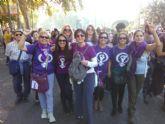 Medio centenar de vecinos de Totana viajan a Madrid a participar en la Marcha contra las violencias machistas