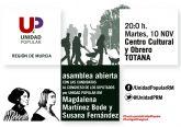 La Candidatura de la Izquierda murciana, Unidad Popular se presenta en Totana