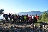 Una treintena de personas participaron en una jornada de senderismo por la Senda del Piojo (Sierra Espuña)