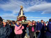 La Virgen del Milagro regresa a Bolnuevo acompañada de miles de romeros