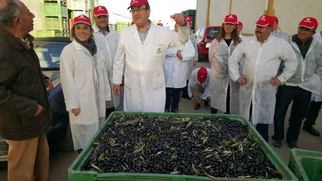 Visita de la consejera de Agua, Agricultura y Medio Ambiente, Adela Martínez Cachá a la cooperativa COATO, Foto 1