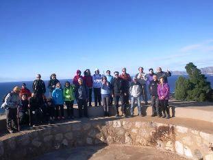 27 participantes se dan cita en la 4ª jornada del programa de Senderismo en la Sierra de la Fausilla, en el litoral de Cartagena, Foto 1