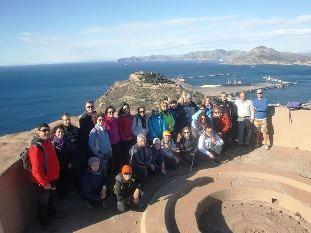 27 participantes se dan cita en la 4ª jornada del programa de Senderismo en la Sierra de la Fausilla, en el litoral de Cartagena, Foto 2