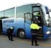 La Policía Local de Totana inicia una campaña para controlar el transporte escolar en la ciudad promovida por la DGT