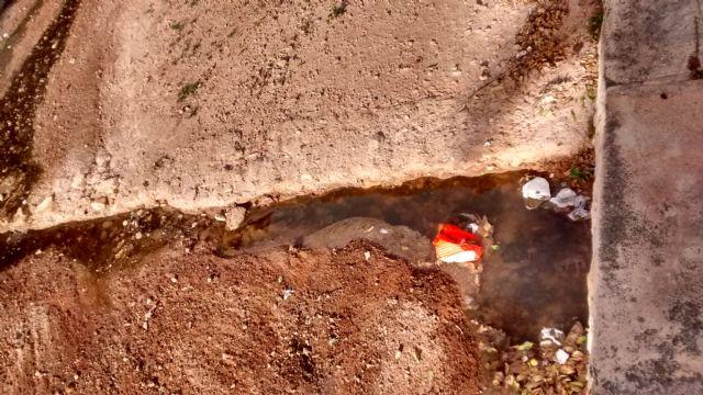 El PP denuncia el vertido de aguas residuales sin control al cauce de la rambla de La Santa durante varias semanas, Foto 1