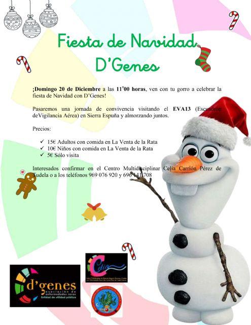 D´Genes celebrará su fiesta de navidad el próximo 20 de diciembre, Foto 1