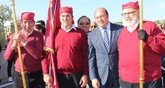 El presidente de la Comunidad asiste al recibimiento de Santa Eulalia de Mérida
