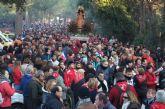 Más de 14.000 personas acompañan a la Patrona de Totana en su romería de bajada desde su santuario a la localidad
