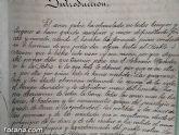 El Archivo municipal recibe documentos donados por los herederos del ilustre historiador José María Munuera y Abadía, Hijo Adoptivo de Totana - 23