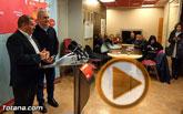 Rueda de prensa del secretario general del PSOE de Totana, Andrés García Cánovas, y el secretario general del PSRM-PSOE Rafael González Tovar