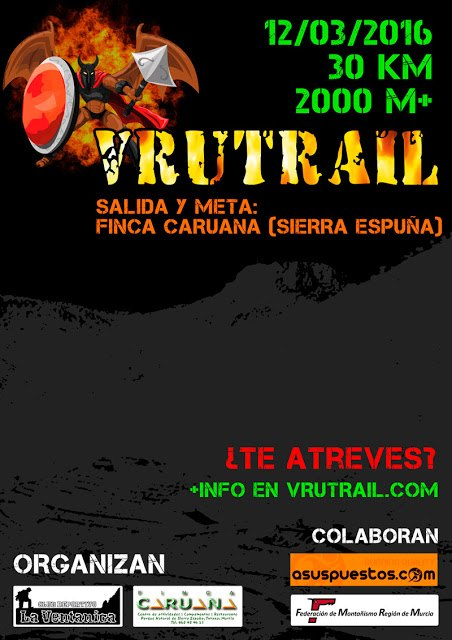 La VRUTRAIL tendrá lugar el próximo sábado 12 de marzo, Foto 1