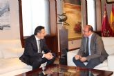 El presidente de la Comunidad se re�ne con el alcalde de Alhama de Murcia