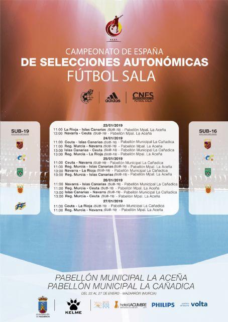 Cinco selecciones autonómicas disputarán esta semana en Mazarrón la fase previa del Campeonato de España de Fútbol - 1, Foto 1