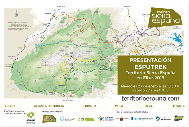 Totana will present its tourist offer in Fitur through the Commonwealth of Tourist Services of Sierra Espuña