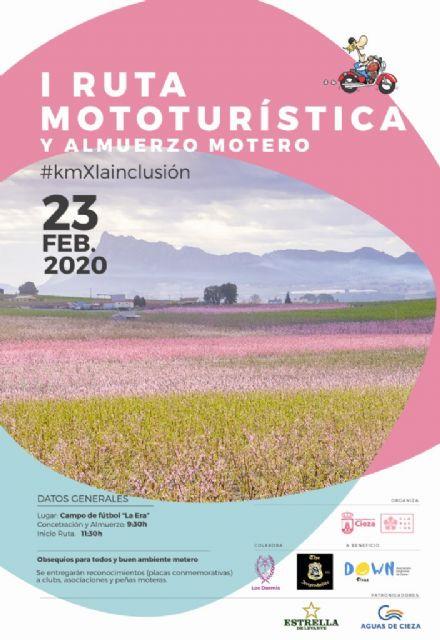 La I Ruta Mototurística Floración viene de la mano de Los Dormis a beneficio de Down Cieza - 1, Foto 1