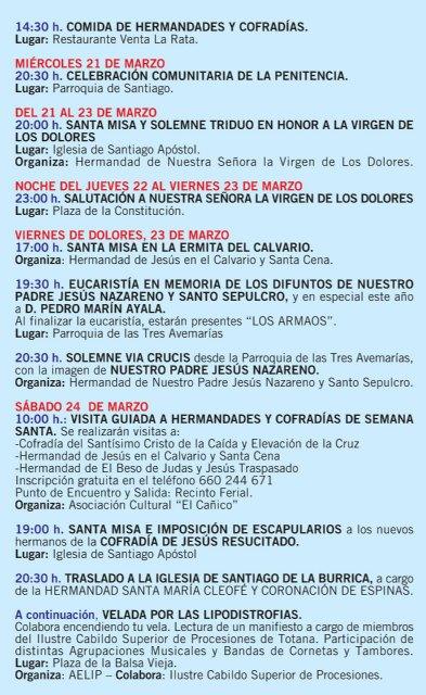Se presenta el tríptico informativo con el programa de las actividades de la Cuaresma y Semana Santa 2018, Foto 6
