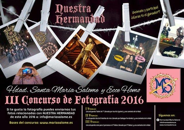 La Hermandad de Santa María Salomé organiza el III Concurso de Fotografía 2016 - 1, Foto 1