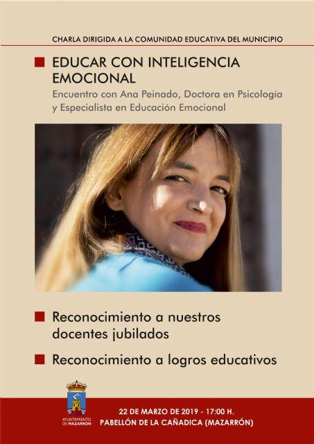 Charla educativa de Ana Peinado en Mazarrón, Foto 1