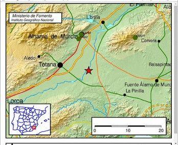 Terremoto de 2.4 grados  en la localidad de Totana, Foto 1