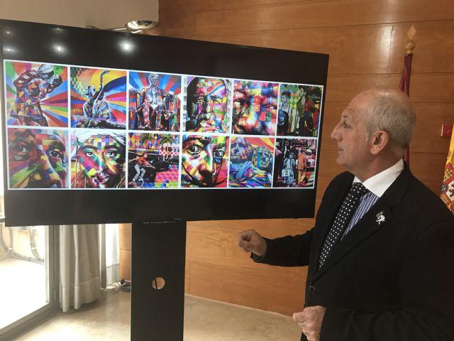 El brasileño Eduardo Kobra pintará en Murcia el primer mural que realiza en España - 1, Foto 1