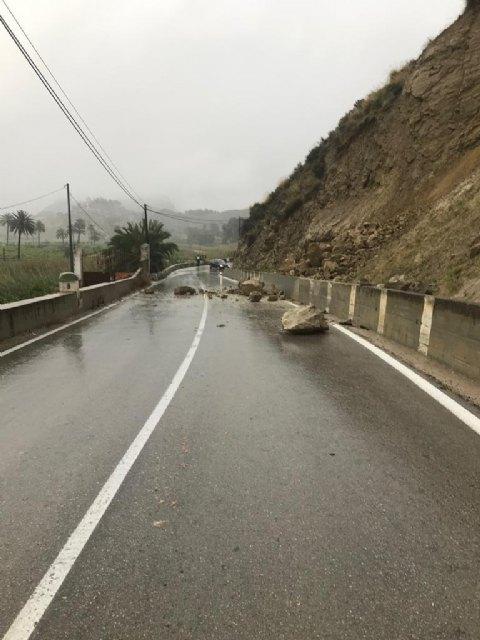 Ciudadanos exige responsabilidades al Gobierno regional por los desprendimientos en la carretera RM-520 - 1, Foto 1