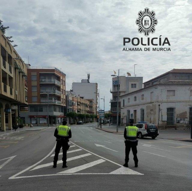 Actuaciones de la Policía Local de Alhama del 14 de marzo al 19 de abril de 2020, Foto 1