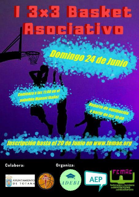 "Totana will host the ""I 3x3 Associative Basket"""