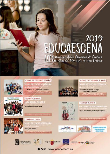 El III Festival de Artes Escénicas de Centros Educativos del Municipio de Torre Pacheco EducaEscena se celebra del 30 de mayo al 7 de junio - 4, Foto 4