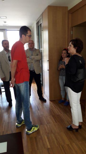 Francisco Miguel Muñoz visita el centro de discapacitados psiquicos en Cabezo de Torres - 3, Foto 3