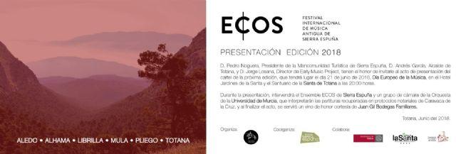 ECOS Festival presenta hoy todos los detalles de su tercera edición, Foto 1